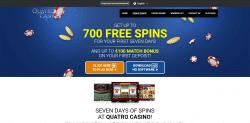 Quatro Casino 700 bonus spins